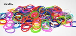 Authentic Rainbow Loom@ Silicone Rubber Bands Refill---Jelly