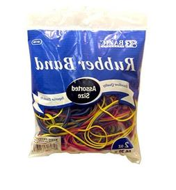 BAZIC Assorted Dimensions 56g/Approx 100 Rubber Bands, Multi