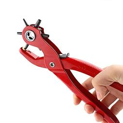 Powstro Belt Hole Punch Plier, Hand-held Leather Hole Punche