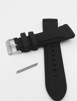 BLACK 24mm RUBBER SILICONE SPORT Diver WATCH BAND FITS Casio
