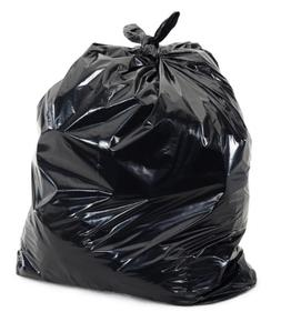 Plasticplace Black 40 - 45 Gallon Trash Bag, 40x46, 1.5 Mil,