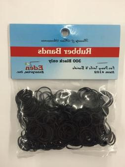 Black Rubber Bands for Ponytails and Braids 300ct