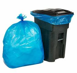 Plasticplace 65 Gallon Blue Trash Bags, 50/Case