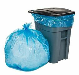 Plasticplace 65 Gallon Blue Trash Bags, 50x48, 1.5MIL 100/Ca