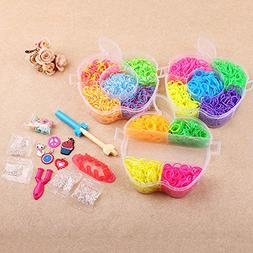 Flee Colorful Rubber Band Bracelets Over 2500 Rainbow Color