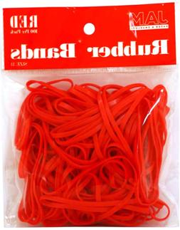 Colorful Rubber Bands - Size 33 - Red Rubberbands - 100/Pack