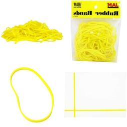 JAM PAPER Colorful Rubber Bands - Size 33 - Yellow Rubberban