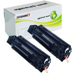 2 Pack Ink4work Compatible C3500B001AA  Black Laser Toner Ca