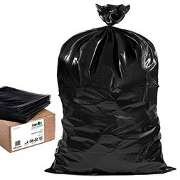 Plasticplace 55 Gallon Contractor Bags, Black, 38'' x 58'',