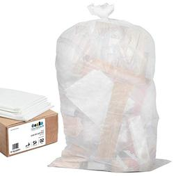 Plasticplace 55-60 Gallon Trash Bags │ 1.5 Mil │ Clear H