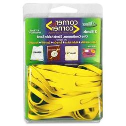 """Alliance Corner Rubber Bands, 8 1/2"""", Yellow, Case of 2 Pack"""