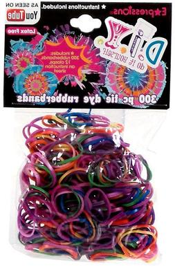Expressions Girl / D.I.Y. 300-piece Tie Dye Latex-free Rubbe