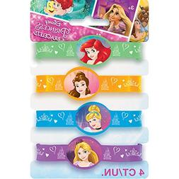 Disney Princess Silicone Wristband Party Favors, 4ct