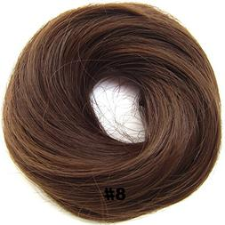 Fashion Small Donut Auburn Brown Synthetic Hairpiece Hair Ru