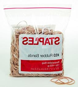 Staples Economy Rubber Bands, Size #33, 1 lb.