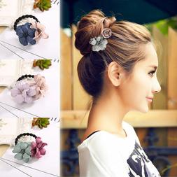 Elastic Hair Ring Flower Hair Rubber bands Rope Cloth Headba