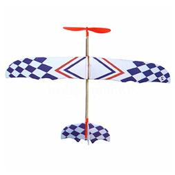 SODIAL Elastic Rubber Band Powered DIY Foam Plane Model Kit