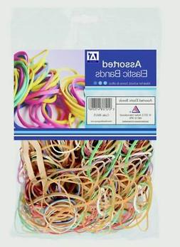 A Star Elastic Rubber Bands Assorted Colours Home School Off
