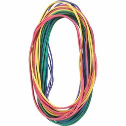 "Extra Large Rubber Bands in Assorted Colors, 7"" x 1/8"", 24/P"