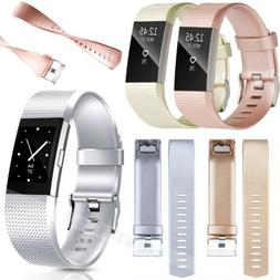 For Fitbit CHARGE 2 Replacement Silicone Rubber Bands Strap