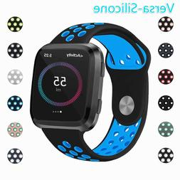 For Fitbit Versa Replacement Wristband Breathable Silicone A