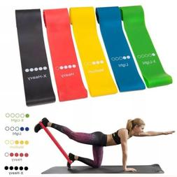 Fitness Gum Exercise Gym Strength Resistance Bands Pilates S