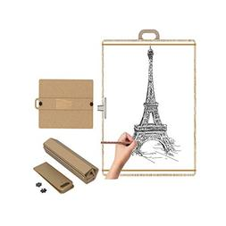 Foldable Artist Sketch Tote Board, Wood Portable Artist Dr