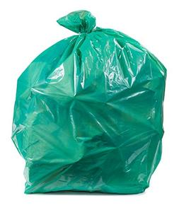 Plasticplace Green Trash Bags, 55-60 Gallon 100 / Case 1.2 M