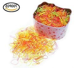 ThEast 700PCS Multi Color Hair Holder Hair Tie Elastic Rubbe