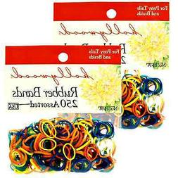 Hair Rubber Bands 2250 pcs  Hollywood Brand Multi Color _61-
