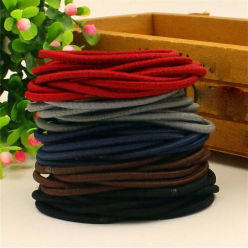 10/50pcs Candy Color Holder Hair Accessories Thin Elastic Rubber Bands