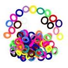 100pcs Rubber Bands Small Size Ponytail Holder for Kids Girl