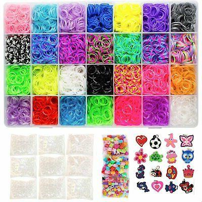 11000 pc rainbow color loomy rubber bands