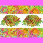 1200 RUBBER GLOW IN THE DARK BANDS for Rainbow LOOM REFILL +