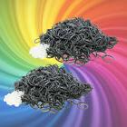 1200 RUBBER SILVER BANDS for Rainbow LOOM REFILL +50 clips +