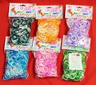 1200 Pcs Kids DIY Rubber Rainbow Loom Bands Refills With S C