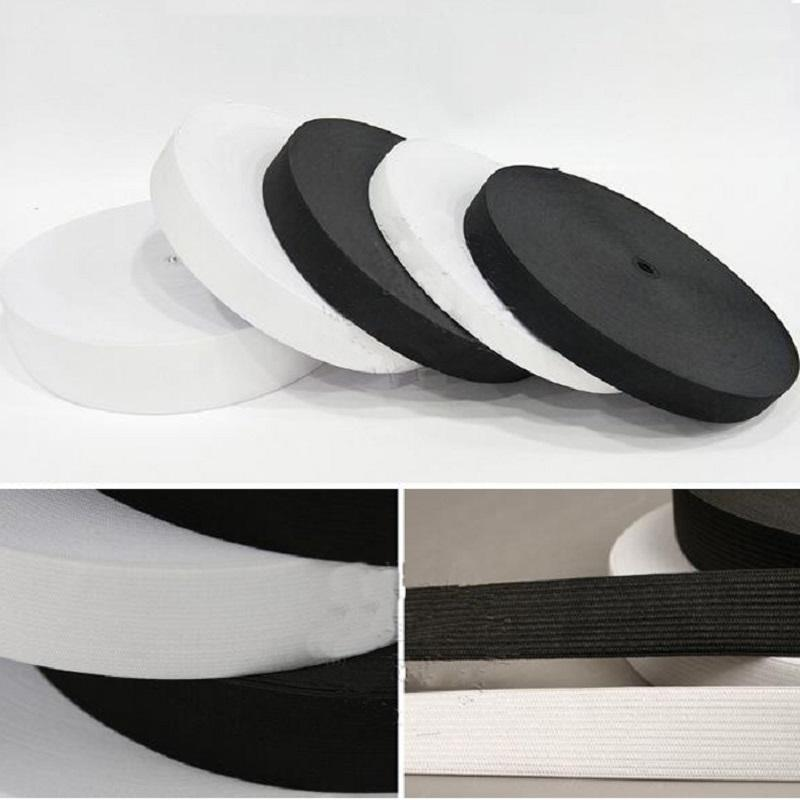 15/20/25/30/35/40/<font><b>50</b></font>/60mm White Elastic ropes Garment Sewing Accessories DIY Wh