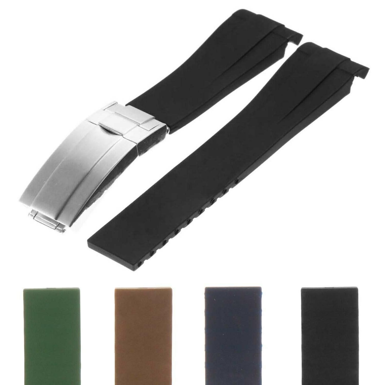 20mm silicone rubber replacement watch band strap