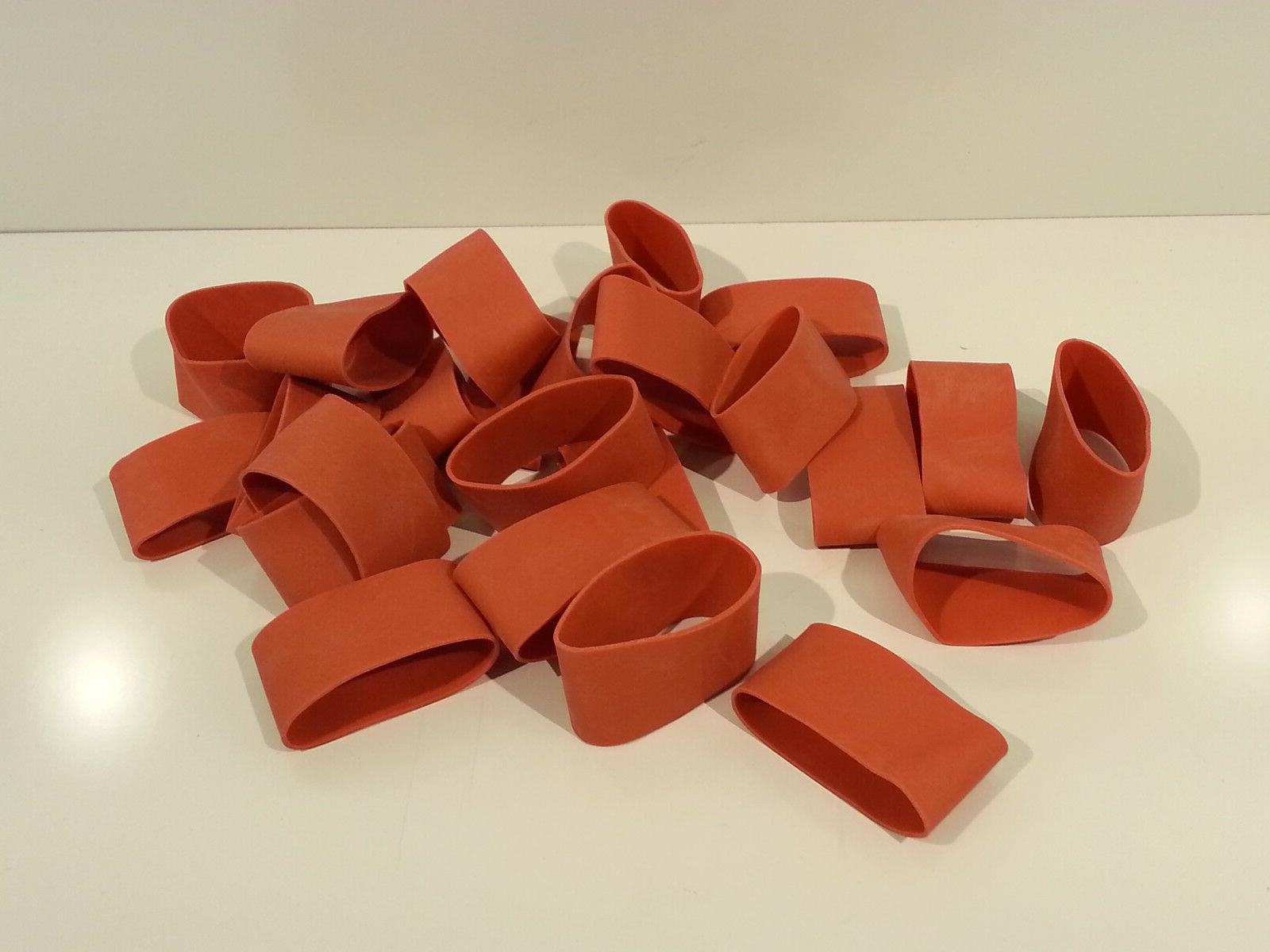 """24  Rubber Bands Red 2 3/4"""" x 1 1/4"""" Heavy Duty & Strong"""