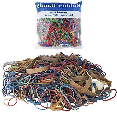 24 packs bazic rubber bands assorted 1