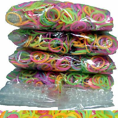 2400 RUBBER GLOW IN THE DARK BANDS for Rainbow LOOM REFILL +