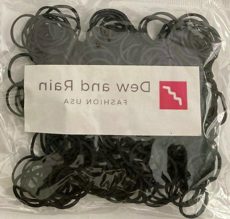 250 Small Black Bands Crafts Pony Hair Office Use etc,