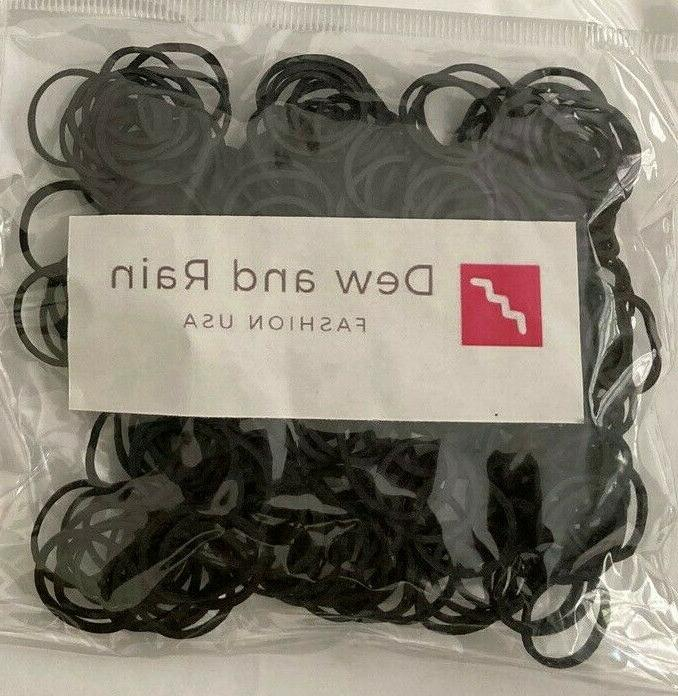 250 small black rubber bands for crafts