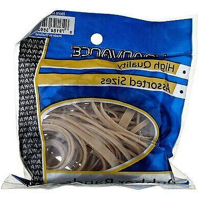 HQ Advance Products Rubberbands, Natural Color, Assorted Siz
