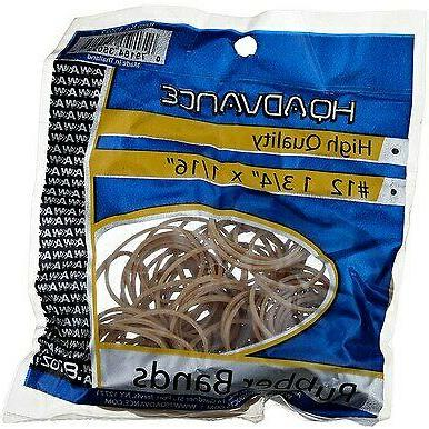 """4 Pack HQ Advance High Quality Rubber Bands, 1 3/4' x 1/16"""","""