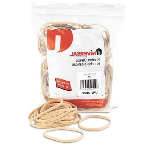 UNIVERSAL 432 Rubber Bands, Size 32, 3 x 1/8, 205 Bands/1/4l