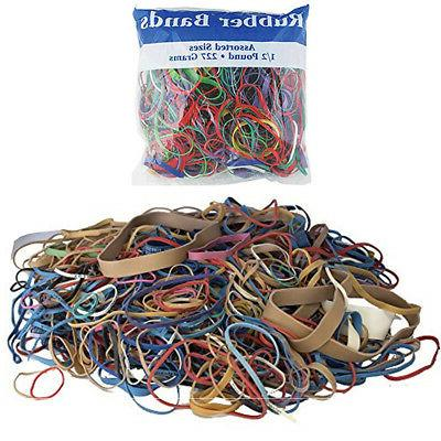48 packs bazic rubber bands assorted 1