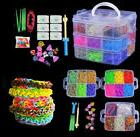 4800x 15000× Colorful Rainbow Rubber Bracelet Loom Bands Ma