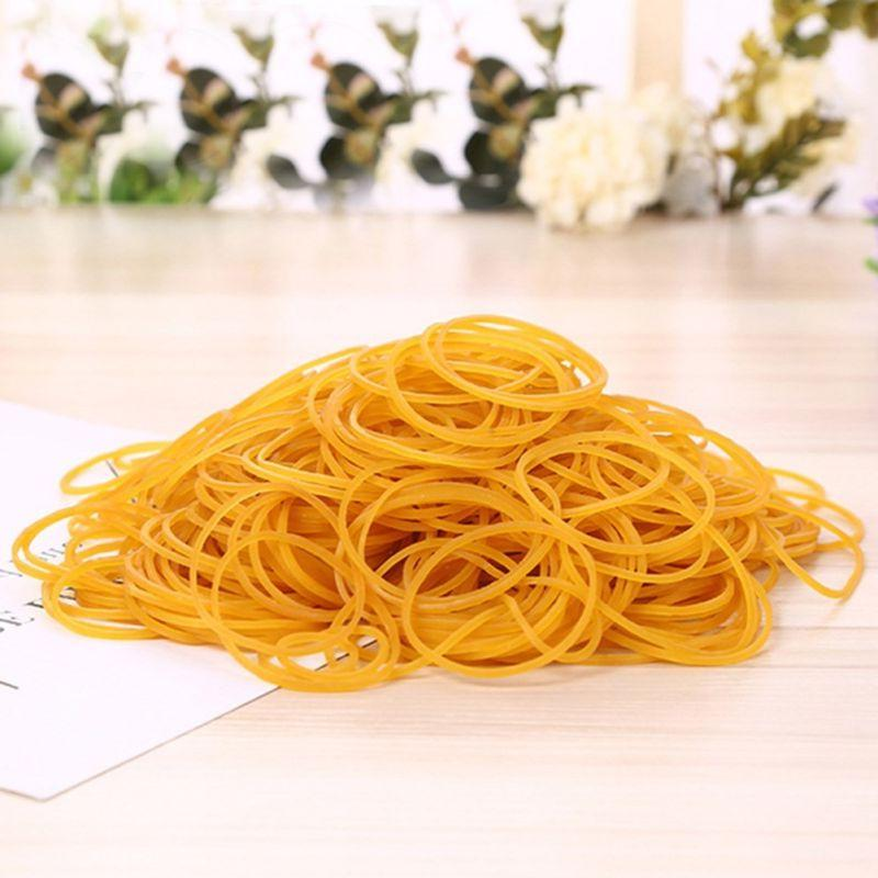 500pcs Thin Natural Rubber Bands Strong Packing Bands for Pa