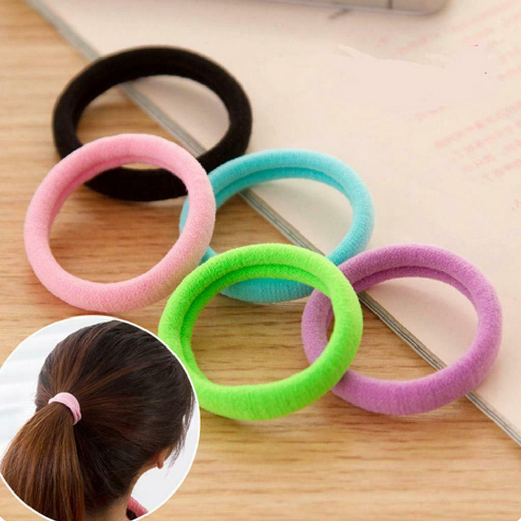 50Pcs Colorful Rubber Bands For Ponytail Hair